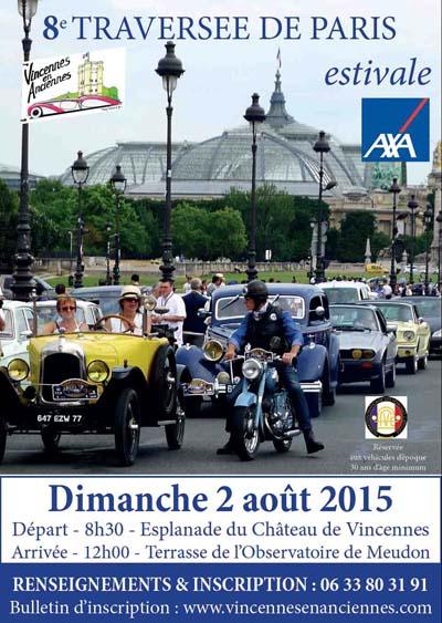 Affiche Traversée de Paris estivale 2015