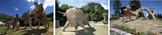 Concours de sculptures sur paille et foin à Valloires
