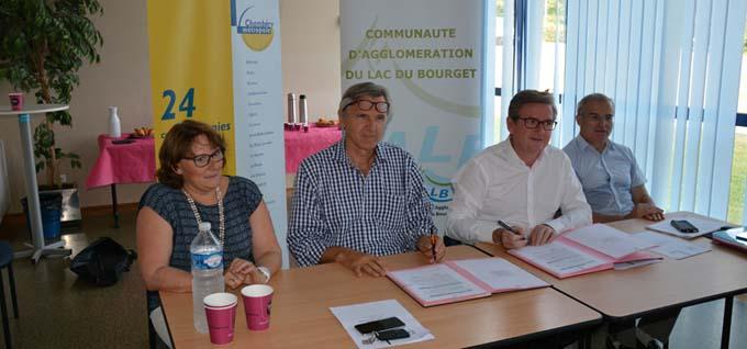 Marie-Pierre François, Dominique Dord, Xavier Dullin et Michel Dantin - © Sergio Palumbo - 123 Savoie