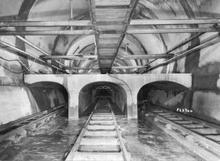 Tunnel du Les galeries principale et souterraines