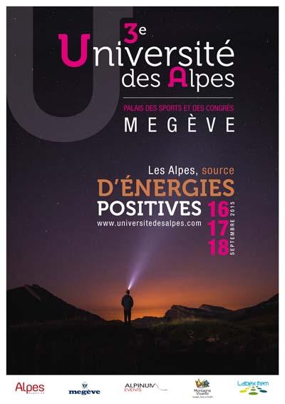 Affiche Université des Alpes à Megève
