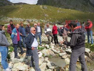Refuge de la Balme, visite avec les élus - © ERDF