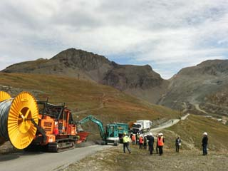 Travaux au sommet ERDF 3 - © ERDF