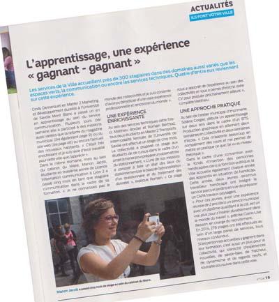 1 page du Chambéry magazine nouvelle formule