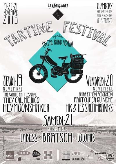 Affiche Tartine Festival