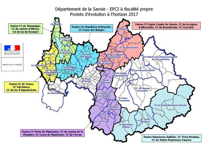 Département de la Savoie EPCI à fiscalité propre