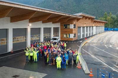 L'ensemble des équipes réunies au centre d'exploitation de Bonneville - © ATMB