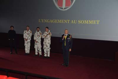 Thomas Misrachi, 3 militaires du GCM 13ème BCA et le Colonel Ghislain Lancrenon