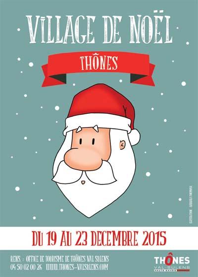 Affiche La magie de Noël s'installe à Thônes