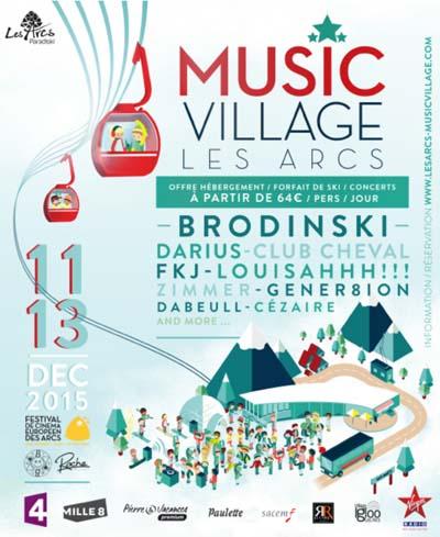 Affiche Le Music Village revient aux Arcs