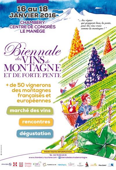 Affiche Biennale des vins de montagne et de forte pente