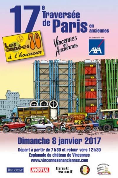 Traversée de Paris en anciennes 2017