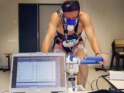 Test d'exercice physique au Laboratoire