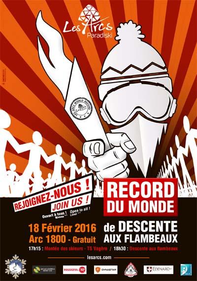 Affiche Tentative de record du monde aux Arcs