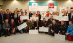 Jean-Yves Barnavon et les associations bénéficiaires du dispositif Tookets accompagnées de leurs Caisses Locales