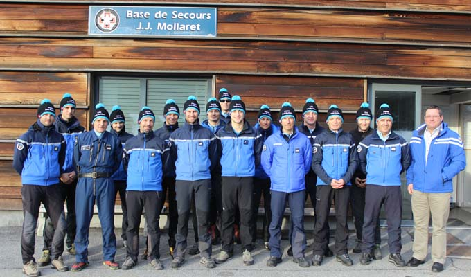 Les équipes PGHM & SAG à Chamonix avec Nicolas Rubin