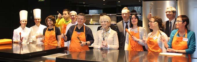 Les lauréats et le jury de cette 2ème édition du concours de l'École de Cuisine Gourmets Institut Paul Bocuse