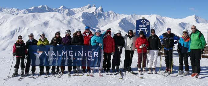 Photo groupe départ Odysséa à Valmeinier