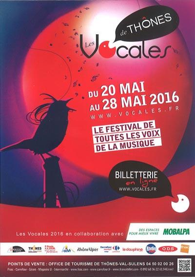 Affiche Festival Les Vocales de Thônes 2016