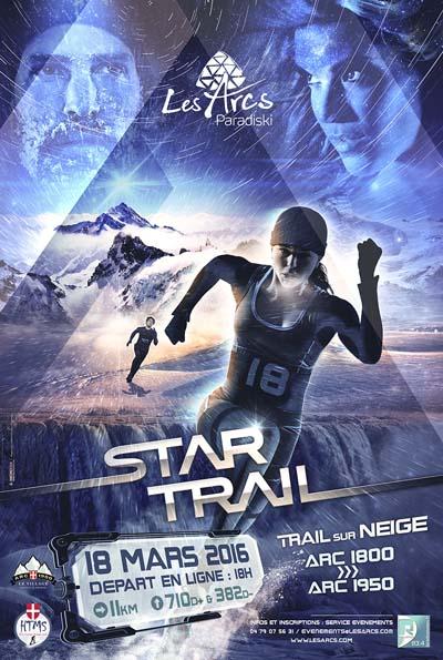 Le 1er trail blanc des Arcs - le Star Trail