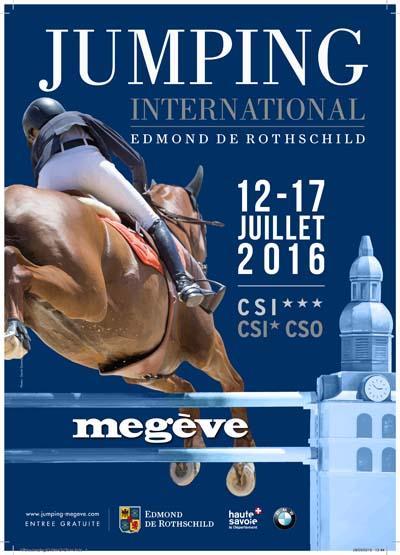 Affiche Jumping International de Megève 2016