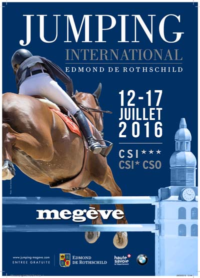 Affiche Jumping International de Megève 2016