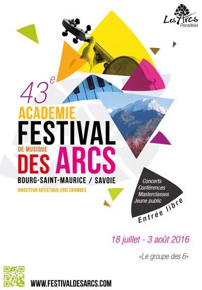 Affiche L'Académie-Festival des Arcs 2016