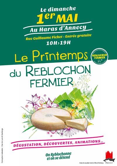 Affiche Printemps du Reblochon fermier