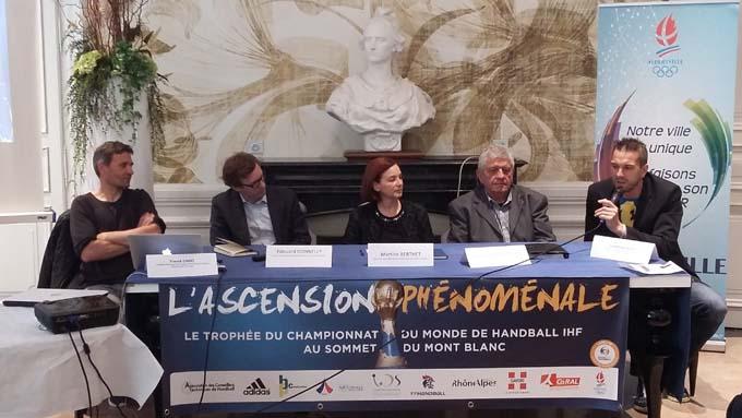 Franck Cadeï, Edouard Donnelly, Martine Berthet, François Cantamessa et Guillaume Gille - © France Handball 2017