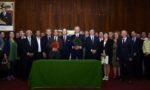 Signature du protocole de coopération entre la Région de Rabat Salé Kénitra et la Région Auvergne-Rhône-Alpes, et des accords de coopération entre les Chambres régionales d'agriculture et celles des métiers et d'artisanat d'Auvergne Rhône-Alpes et de Rabat Salé Kénitra - © Franck Trabouillet