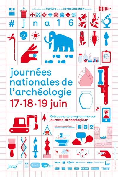 Affiche Journées Nationales de l'Archéologie 2016
