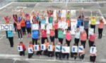 Flashmob sur l'hélistation de l'ancien hôpital de Chambéry