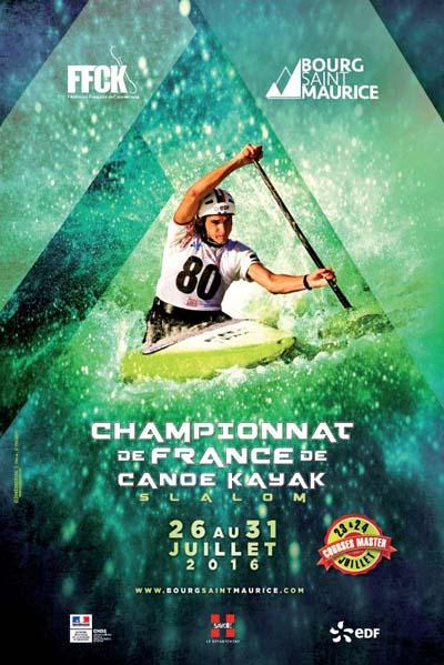 Affiche Championnat de France de canoë-kayak slalom