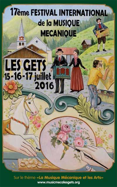 Affiche Festival International de la Musique Mécanique 2016
