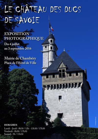 Affiche expo Château des Ducs de Savoie de Michel Foriel