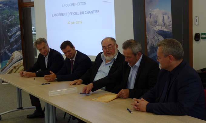 Hervé Gaymard, Nicolas Martrenchard, Jean Laymond, André Pointet et Laurent Perotin