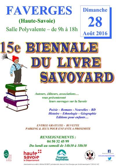 Affiche Biennale du Livre Savoyard 2016