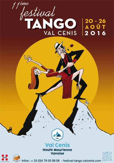 Affiche Festival de Tango à Val Cenis