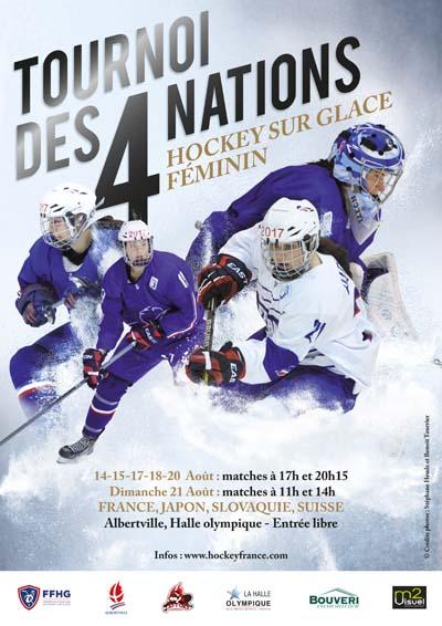 Affiche Tournoi des 4 nations de Hockey Féminin à Albertville