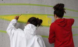 Des collégiens réalisent une fresque pour ATMB