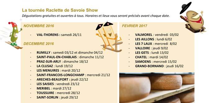 Raclette de Savoie Show - dates