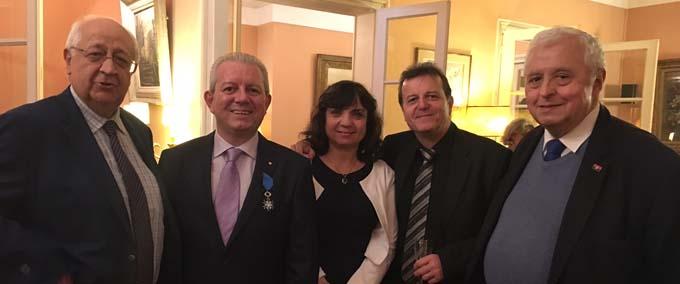 Jean-Pierre Vial, Sénateur de Savoie ,Laurent Rigaud, Mme et Mr Grellier, président des Savoyards de Paris, Mr Pierre Beauquis, président des Savoyards d'Angola