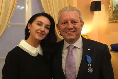 Laurent Rigaud et son épouse Ludmila