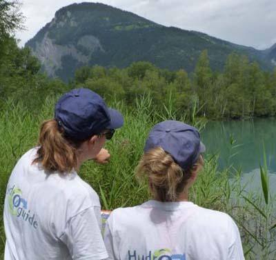 Les hydroguides d'EDF sur le terrain © EDF- UP Alpes
