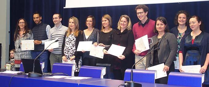 Diplômés du Master MEEF Enseignement et surdité - © CNFEDS