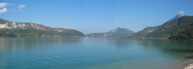 panorama du lac d'Annecy
