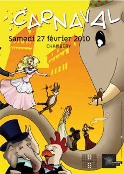 affiche carnaval chambery 2010