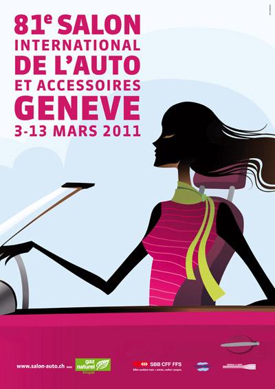 Affiche salon international de l automobile de gen ve 2011 - Affiche salon de l auto ...