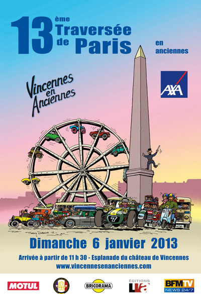 Affiche Travers�e de Paris 2013