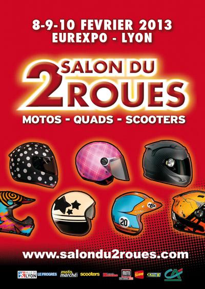Visuel salon du 2 roues de lyon 2013 photo 400x562 for Salon du 2 roues lyon